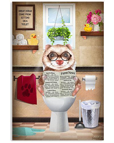 Ferret Toilet Poster