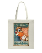 Beagle  I read books I drink wine Tote Bag thumbnail