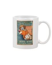 Beagle  I read books I drink wine Mug thumbnail