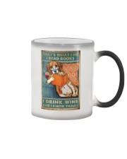 Beagle  I read books I drink wine Color Changing Mug thumbnail