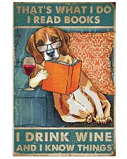 Beagle  I read books I drink wine 24x36 Poster front