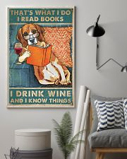 Beagle  I read books I drink wine 24x36 Poster lifestyle-poster-1
