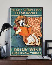 Beagle  I read books I drink wine 24x36 Poster lifestyle-poster-2