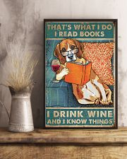Beagle  I read books I drink wine 24x36 Poster lifestyle-poster-3