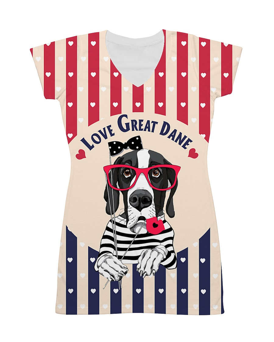 Great dane hearts All-over Dress
