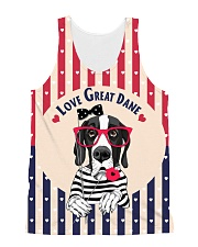 Great dane hearts All-over Unisex Tank thumbnail