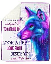 """Wolf look back Sherpa Fleece Blanket - 50"""" x 60"""" thumbnail"""