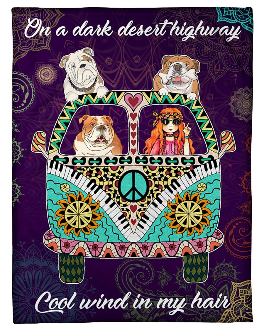 "Bulldog Fleece Blanket Small Fleece Blanket - 30"" x 40"""