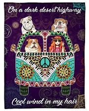 "Bulldog Fleece Blanket Small Fleece Blanket - 30"" x 40"" front"