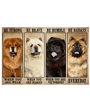 Chow Chow Be Strong 36x24 Poster front