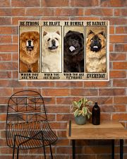 Chow Chow Be Strong 36x24 Poster poster-landscape-36x24-lifestyle-20