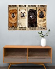 Chow Chow Be Strong 36x24 Poster poster-landscape-36x24-lifestyle-21