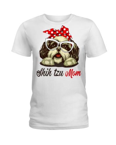 CUTE SHIH TZU MOM WHITE SHIRT