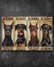 Doberman be strong 36x24 Poster aos-poster-landscape-36x24-lifestyle-11