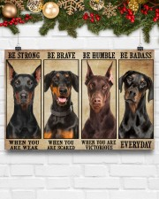 Doberman be strong 36x24 Poster aos-poster-landscape-36x24-lifestyle-25