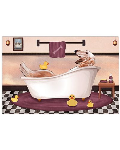 Saluki bath showering