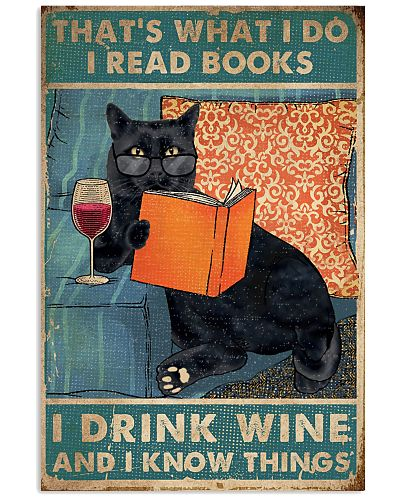 Cat I read books I drink wine