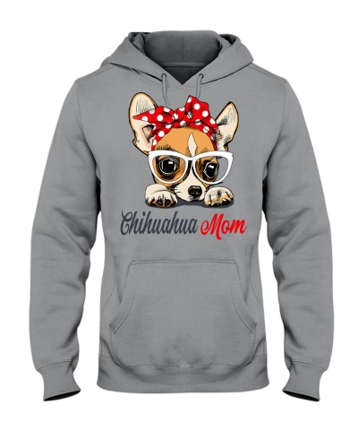 FUNNY CHIHUAHUA MOM GRAY SHIRT