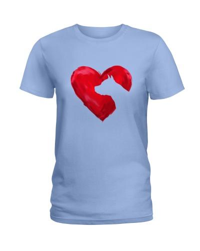 Staffordshire terrier heart