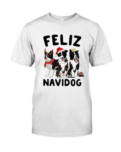 Border collie Feliz Navidog