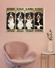 Bernese Mountain be strong 36x24 Poster poster-landscape-36x24-lifestyle-19