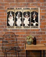 Bernese Mountain be strong 36x24 Poster poster-landscape-36x24-lifestyle-20