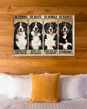 Bernese Mountain be strong 36x24 Poster poster-landscape-36x24-lifestyle-23