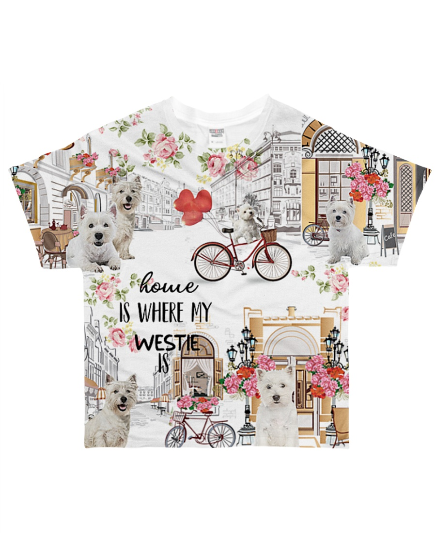 Home Is Where westie Is All-over T-Shirt