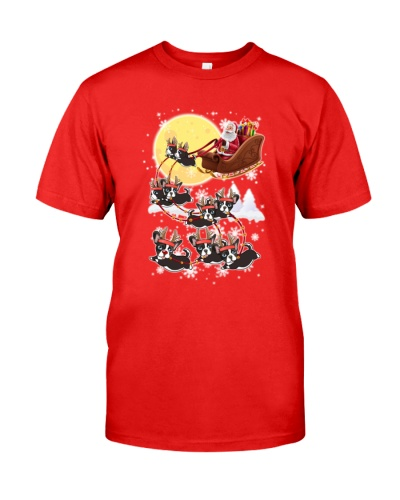 Boston terrier T- shirt  noel