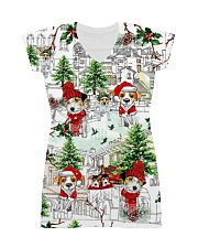 Jack russell  Christmas  All-over Dress thumbnail