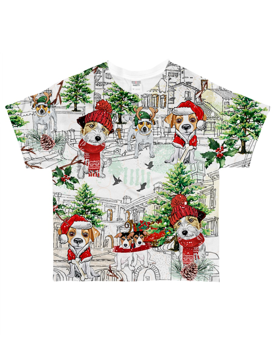 Jack russell  Christmas  All-over T-Shirt