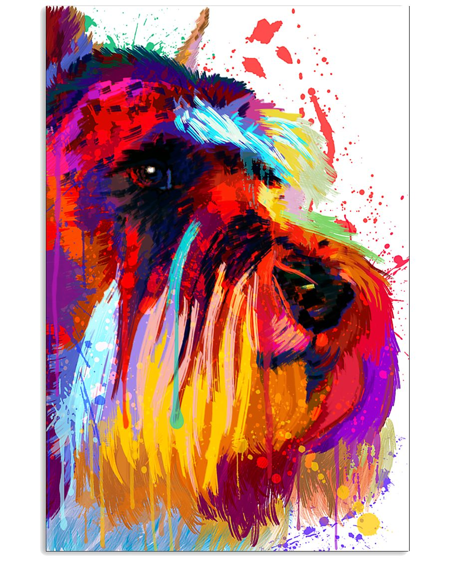 SCHNAUZER ONE SIDE FACE POSTER 11x17 Poster