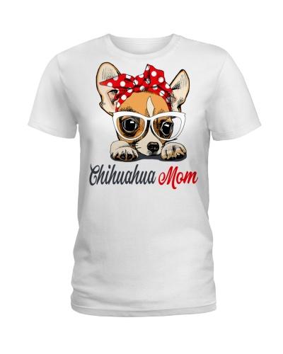 FUNNY CHIHUAHUA MOM WHITE SHIRT