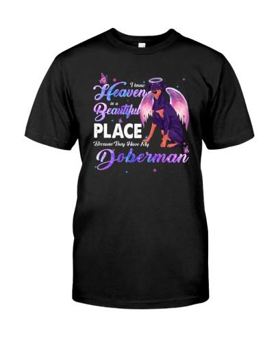 Doberman  heaven is beautiful
