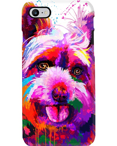 Yorkie Water Color Phone Case
