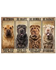 Shar Pei Be Strong 36x24 Poster front
