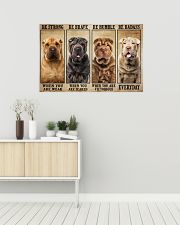 Shar Pei Be Strong 36x24 Poster poster-landscape-36x24-lifestyle-01