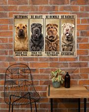 Shar Pei Be Strong 36x24 Poster poster-landscape-36x24-lifestyle-20