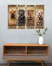 Shar Pei Be Strong 36x24 Poster poster-landscape-36x24-lifestyle-21