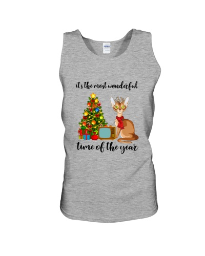 Abyssinian Cat Merry Christmas