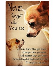 Chihuahua Never Forget 16x24 Poster front