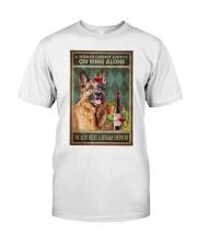 German Sherpherd Wine Classic T-Shirt thumbnail