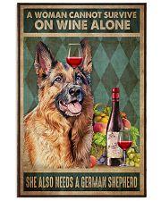 German Sherpherd Wine Vertical Poster tile
