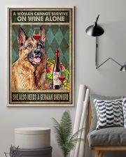 German Sherpherd Wine 24x36 Poster lifestyle-poster-1
