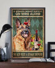 German Sherpherd Wine 24x36 Poster lifestyle-poster-2