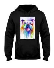 BullDog Poster Flow Art V2 Hooded Sweatshirt thumbnail