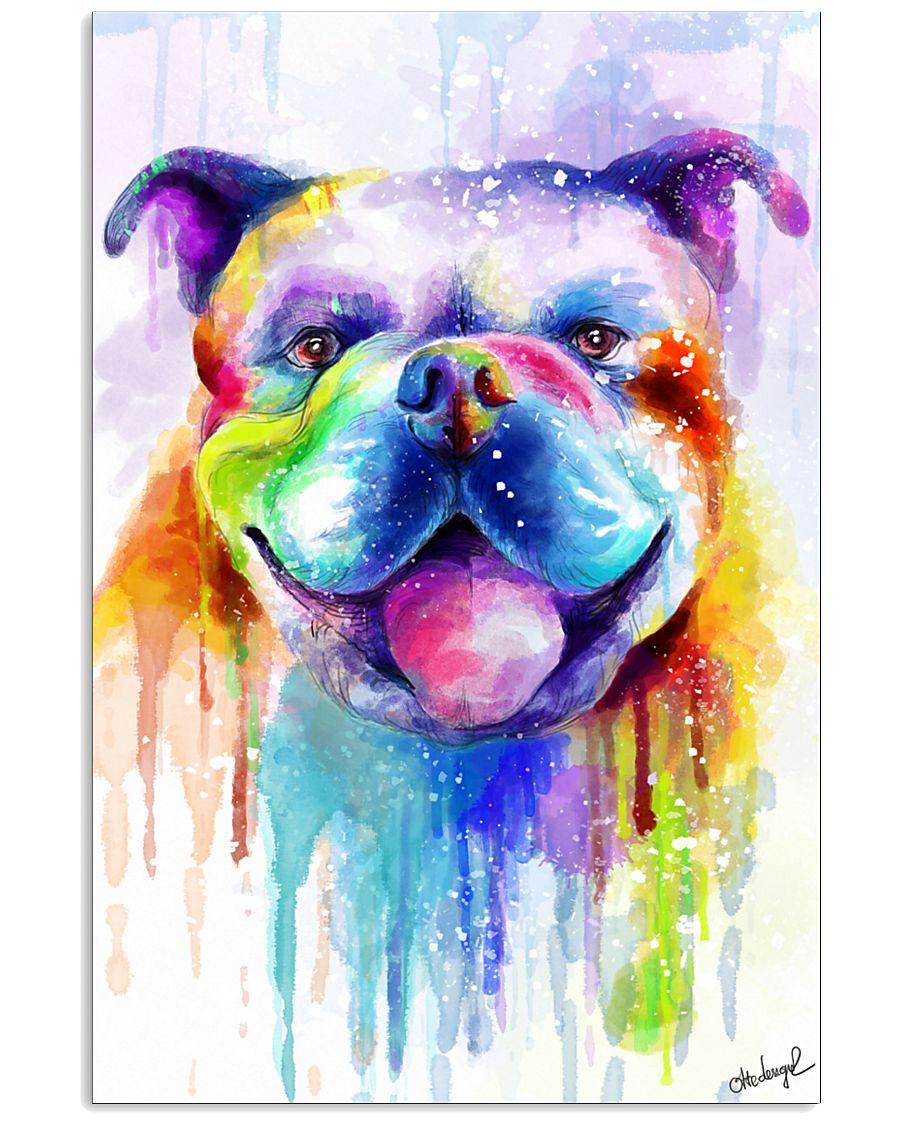 BullDog Poster Flow Art V2 11x17 Poster