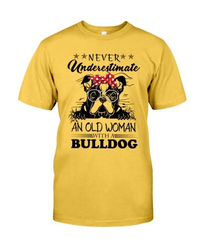 Bulldog old woman