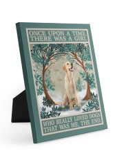 Labrador once upon a time 8x10 Easel-Back Gallery Wrapped Canvas thumbnail
