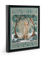 Labrador once upon a time 11x14 Black Floating Framed Canvas Prints thumbnail